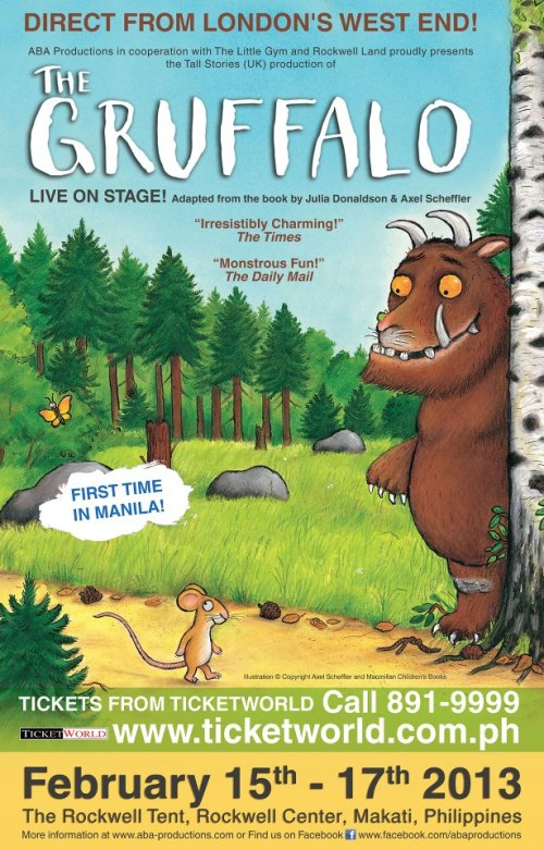 Photo Credit: The Gruffalo Philippines Facebook Page